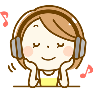 Woman listening to music (#2) clipart, cliparts of Woman listening.