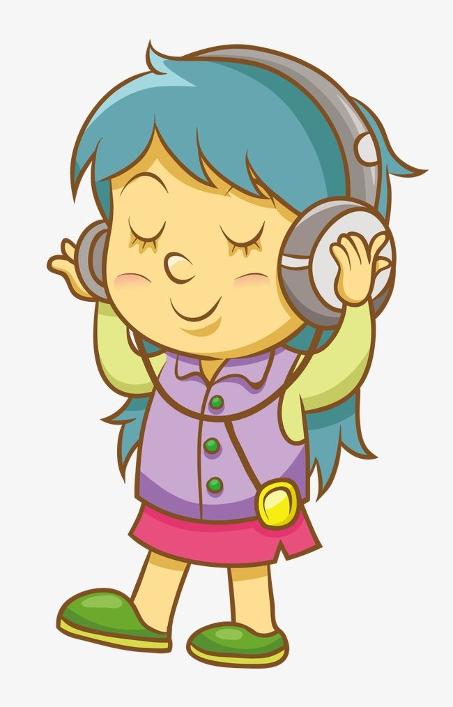 Listening To Music PNG, Clipart, Cartoon, Girl, Listening.