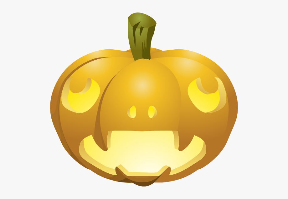 This Free Clip Arts Design Of Carved Pumpkins Lit.