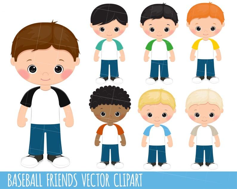 Children Clipart, Little Boy Clipart graphics, Cool clipart, friends  clipart, planner stickers, raglan clipart, Raglan, Baseball, png svg.