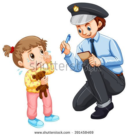 Little Boy With Police Clipart.