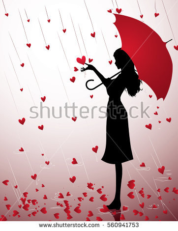Black Girl Silhouette Umbrella Stock Images, Royalty.