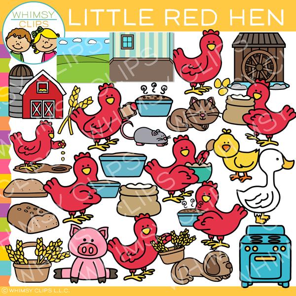 Little Red Hen Clip Art.