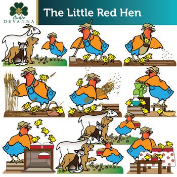 The Little Red Hen Clip Art Set.