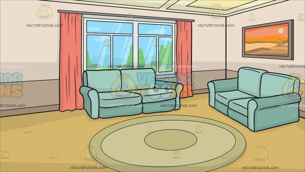 a small living room background clipart by vector.