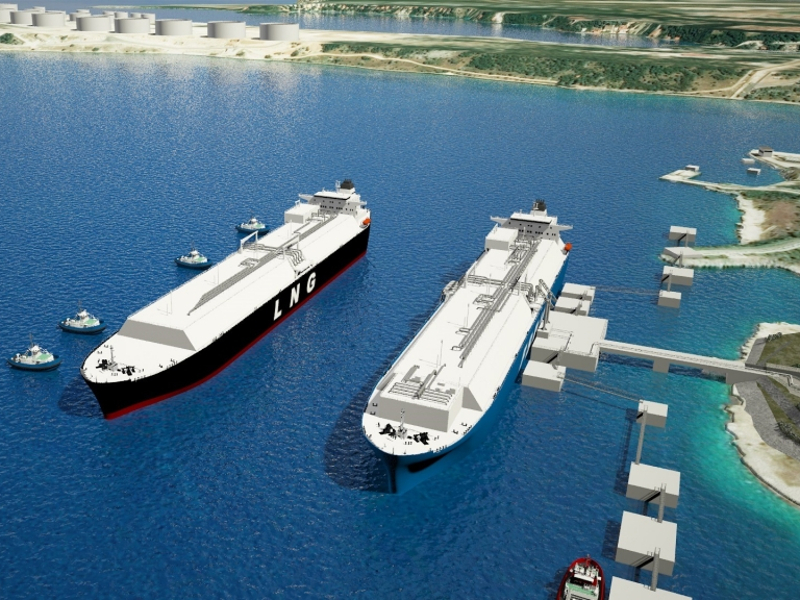 Krk LNG Terminal, Floating import facility, Krk Island, Croatia.