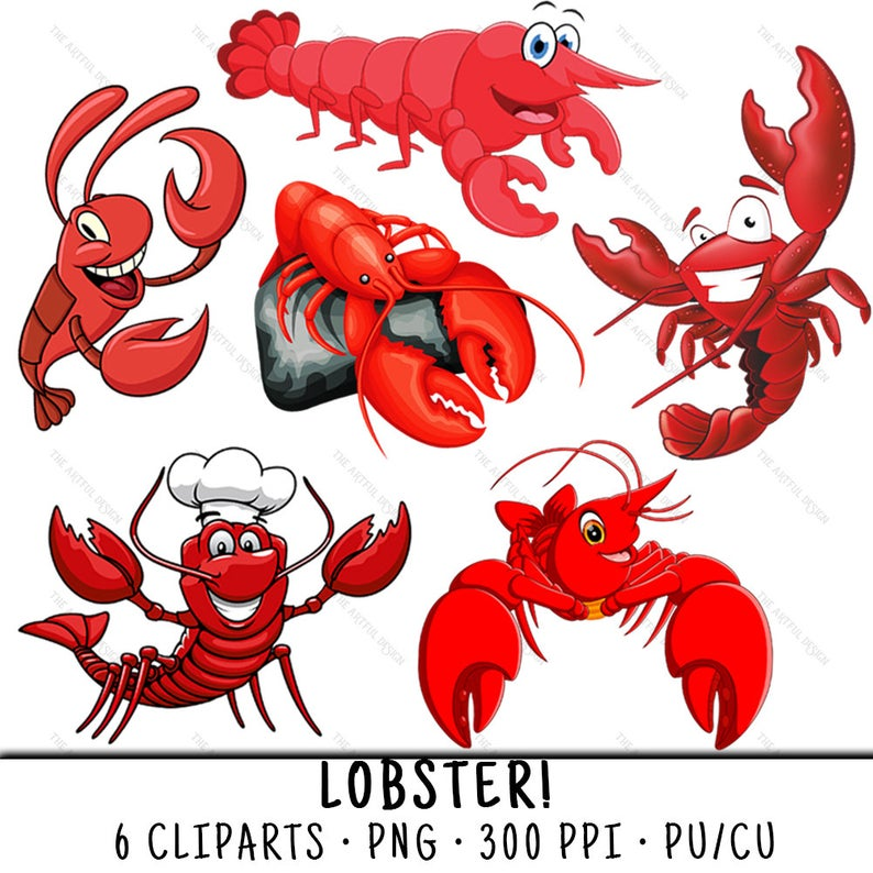 Lobster Clipart, Seafood Clipart, Lobster Clip Art, Seafood Clip Art,  Lobster PNG, PNG Lobster, Clipart Lobster, Seafood Lobster.
