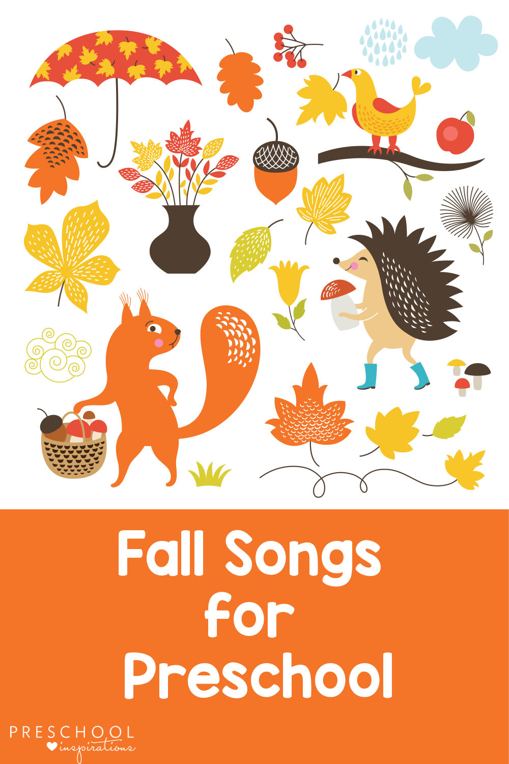 The Best Fall Songs for Preschool.