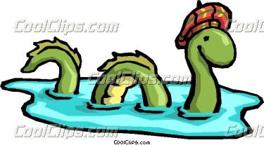 Cartoon Loch Ness Monster Vector Clip art.