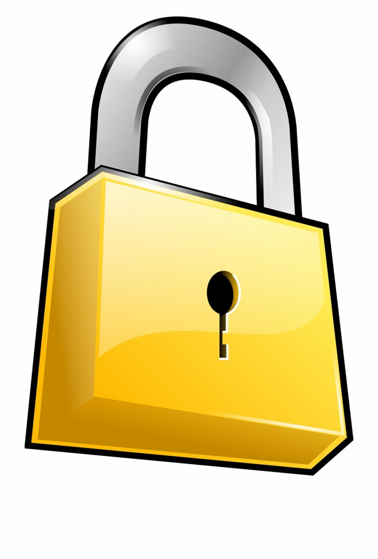 Security Lock Padlock Locked Png Image.