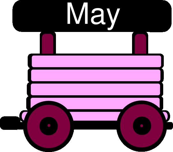 Loco Train Carriage Pink Clip Art.