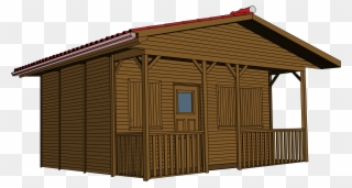 Lodge Clipart Brown House.