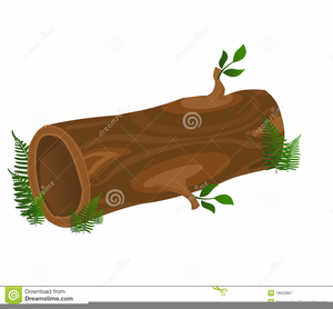 Speckled Log Clipart.