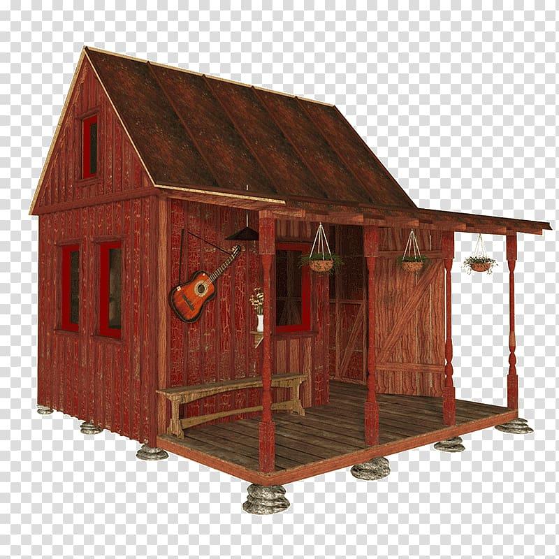 Shed Log cabin Cottage House plan, cabin transparent.