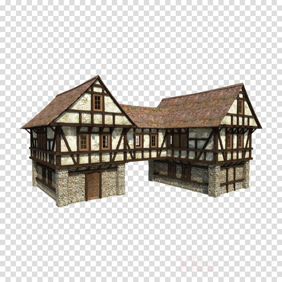 house roof building log cabin shed clipart.