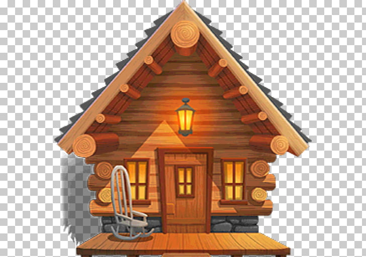Log cabin Cottage , house PNG clipart.