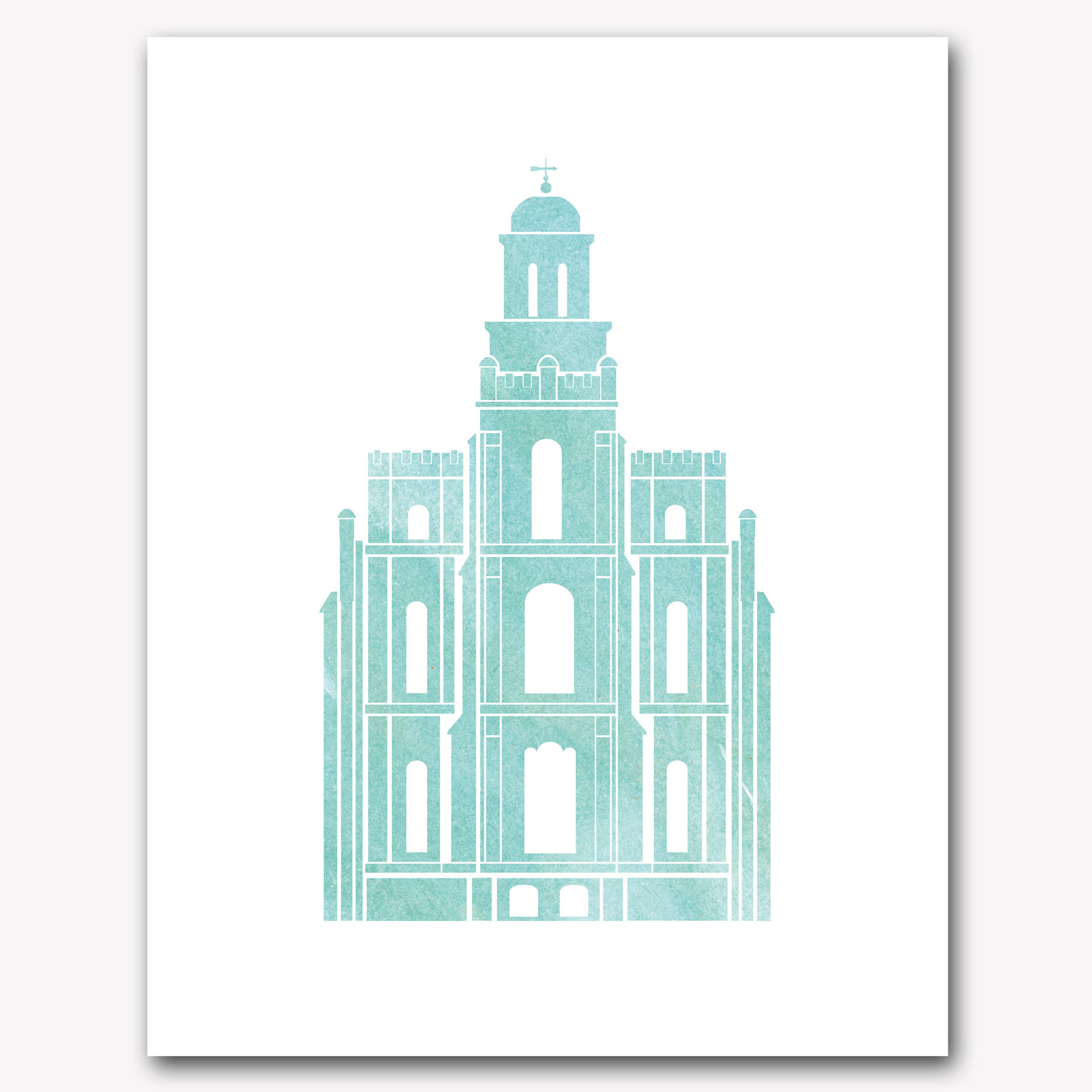 Logan LDS Temple Clip Art.
