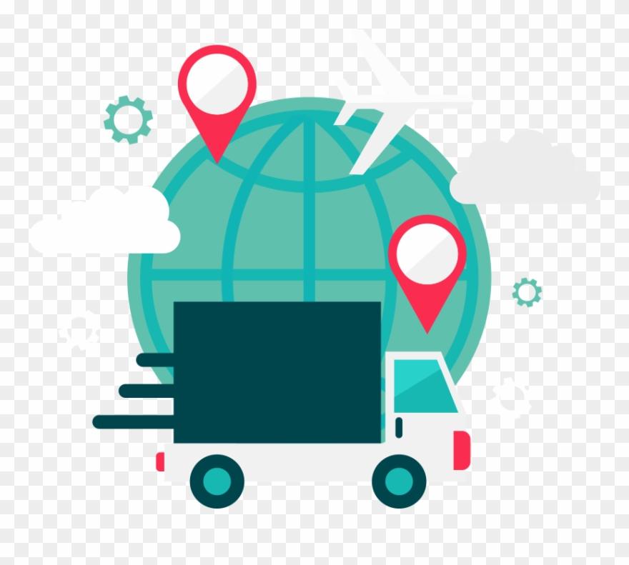 Png Black And White Logistics Clip Art Express Transportation.