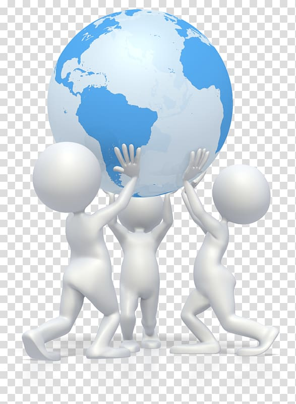 Group of people carrying globe logo, Animation Stick figure.