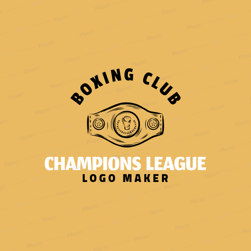 Boxing Logo Creator with Champion's Belt Clipart 1584e.