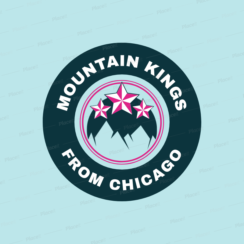 Hockey Logo Creator with Mountains Clipart 1561a.