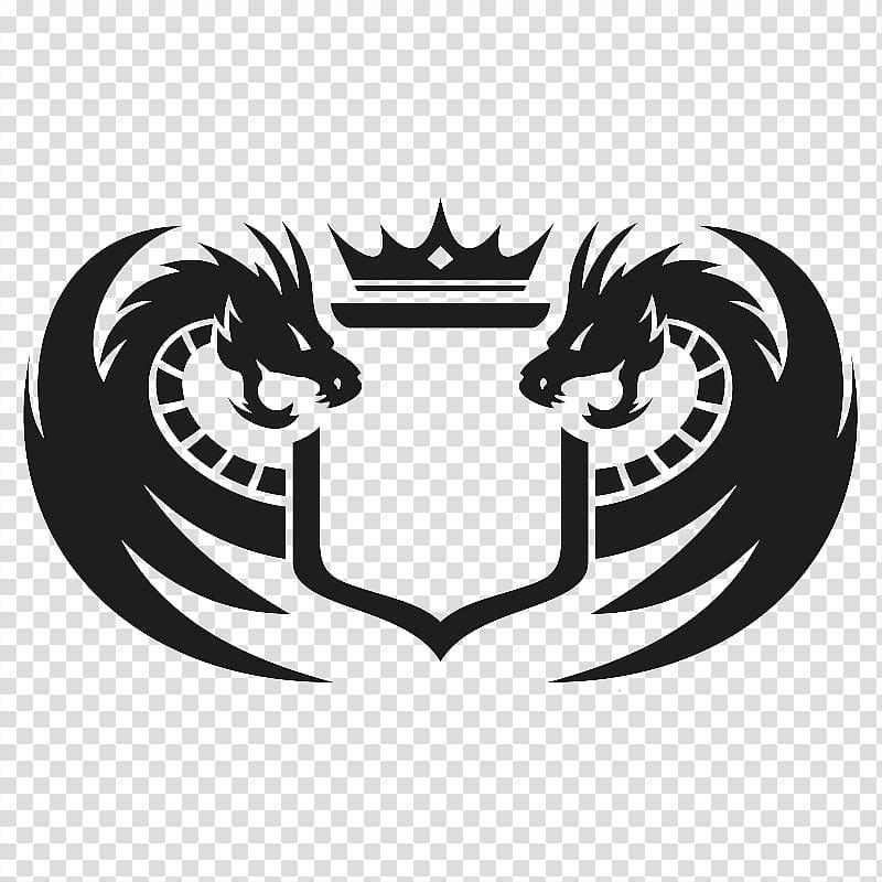 Black dragon logo, Chinese water dragon Logo Graphic design.