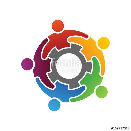 "Group of Diverse People Working Together Logo"" #business."