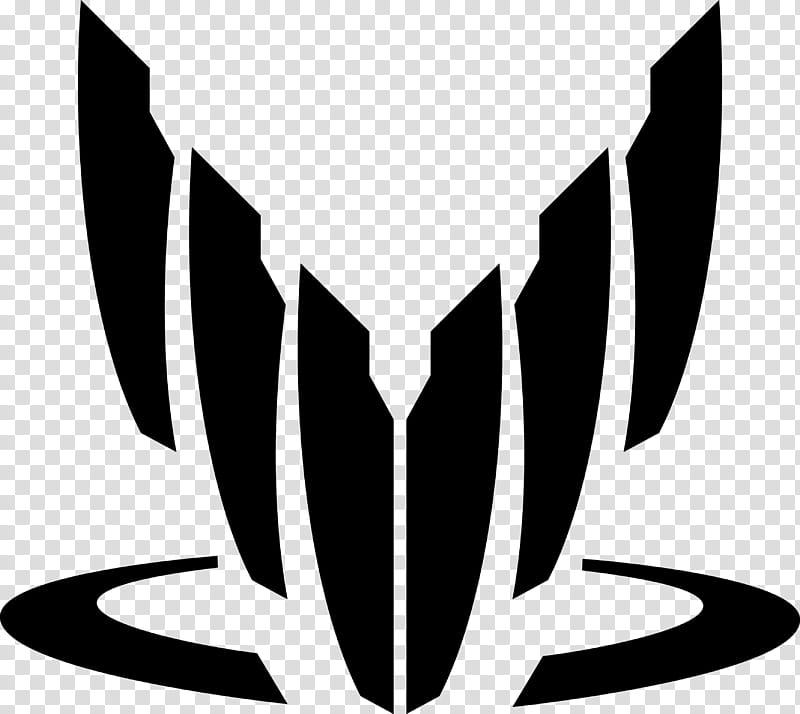 Mass Effect Spectre Logo, black logo transparent background.