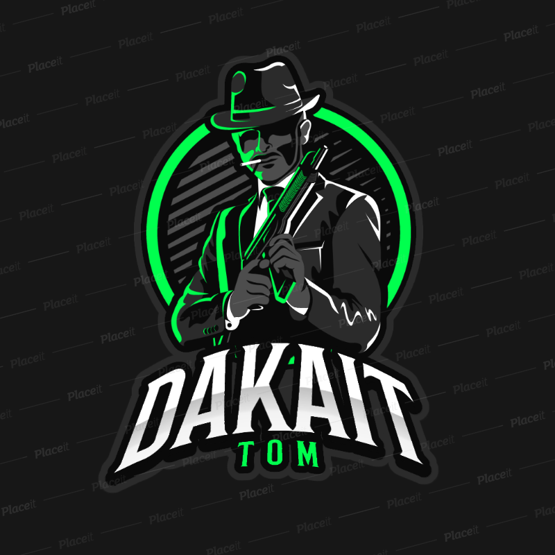 Gaming Logo Maker Featuring a Suited Mafia Gangster Clipart.