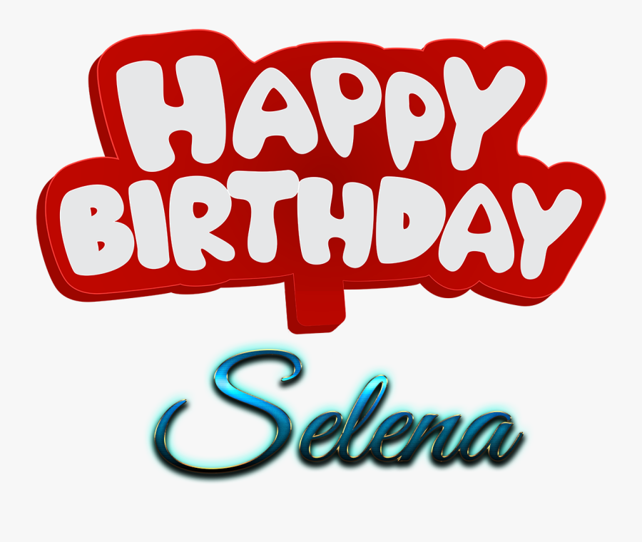 Selena Happy Birthday Name Logo.