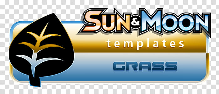 Pokemon SM Templates, Grass, Sun & Moon Templates Grass logo.