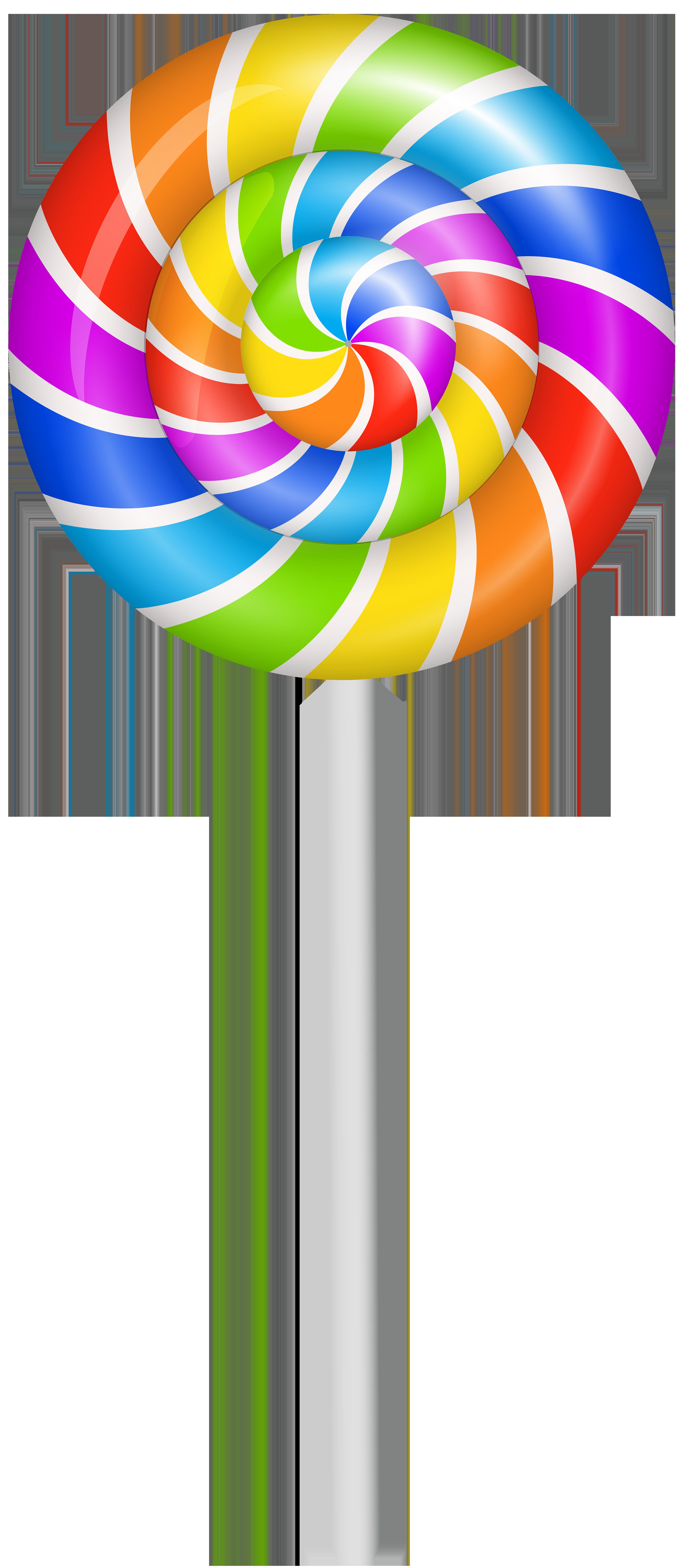 Colorful Lollipop PNG Clip Art Image.