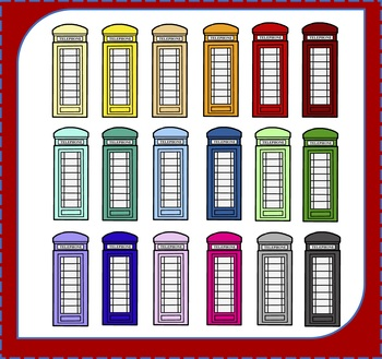 Telephone Booths Clipart / Telephone Clipart / London Clipart / Travel  Clipart.