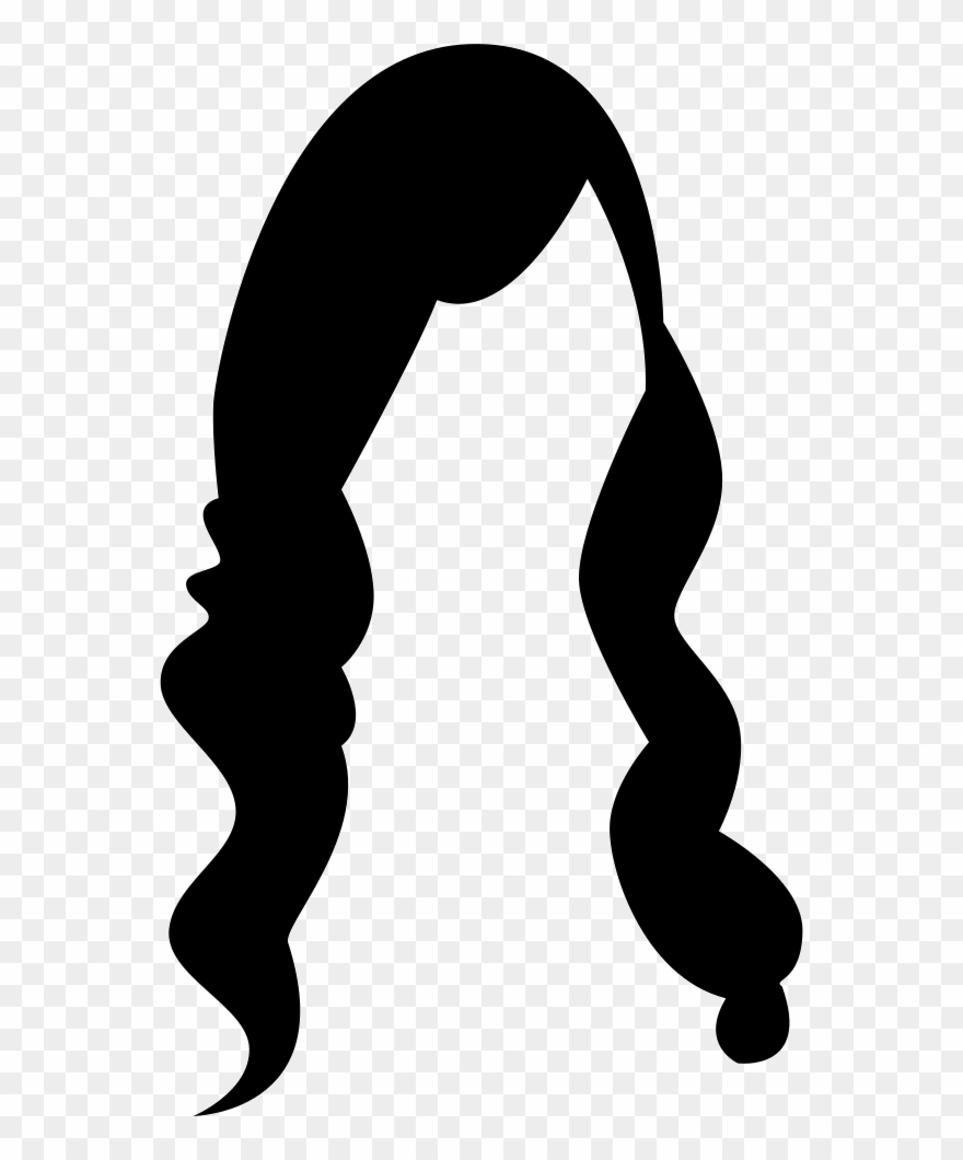 Female Long Hair Comments Clipart (#2797564).
