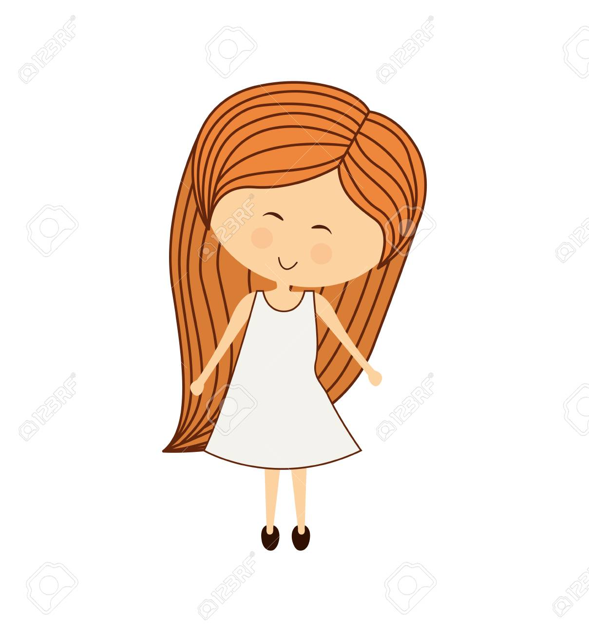 Woman Clipart long hair 1.
