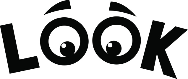 Look With Eyes Clipart.