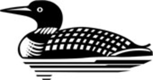 loon clipart black and white.