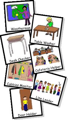 Classroom Jobs Clipart.