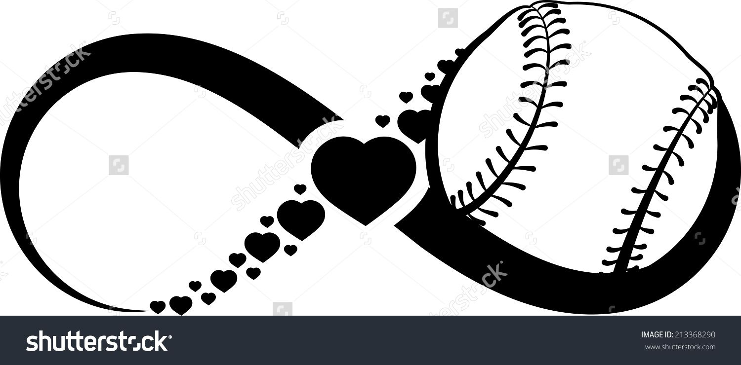 Infinity Symbol With A Softball Or Baseball In The Right.