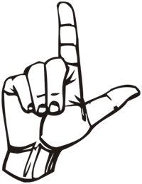 loser hand sign clip art.