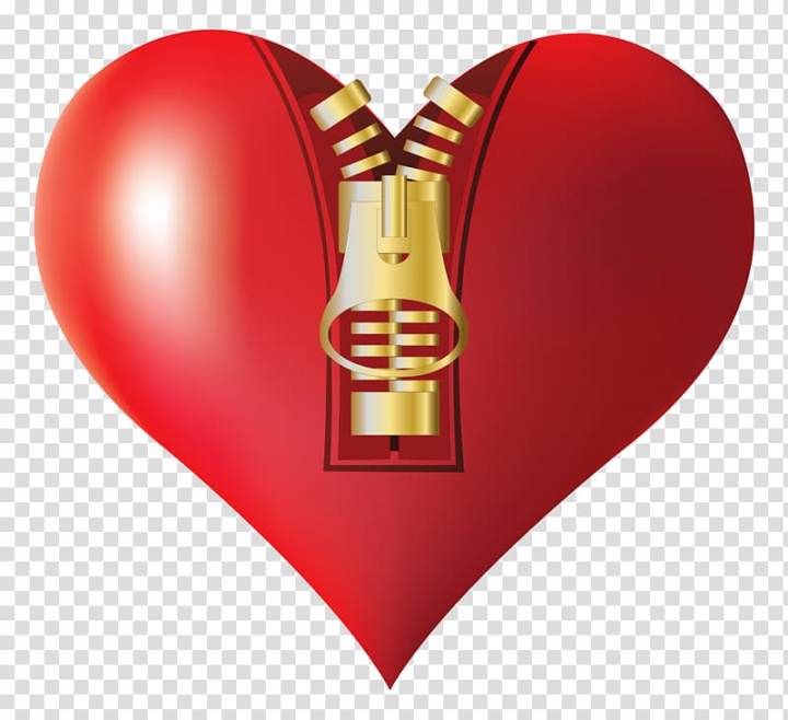 Red heart zipped illustration, file formats Lossless.