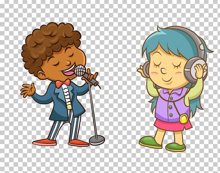 Cartoon Singing Song Illustration PNG, Clipart, Art, Baby.