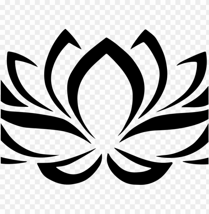 simple clipart lotus.