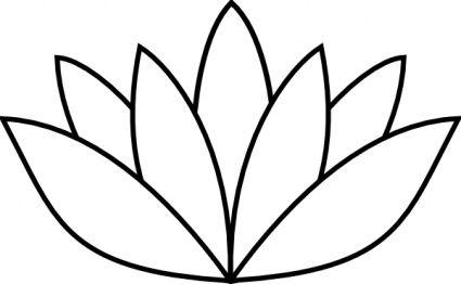 Flower Outline Clipart.