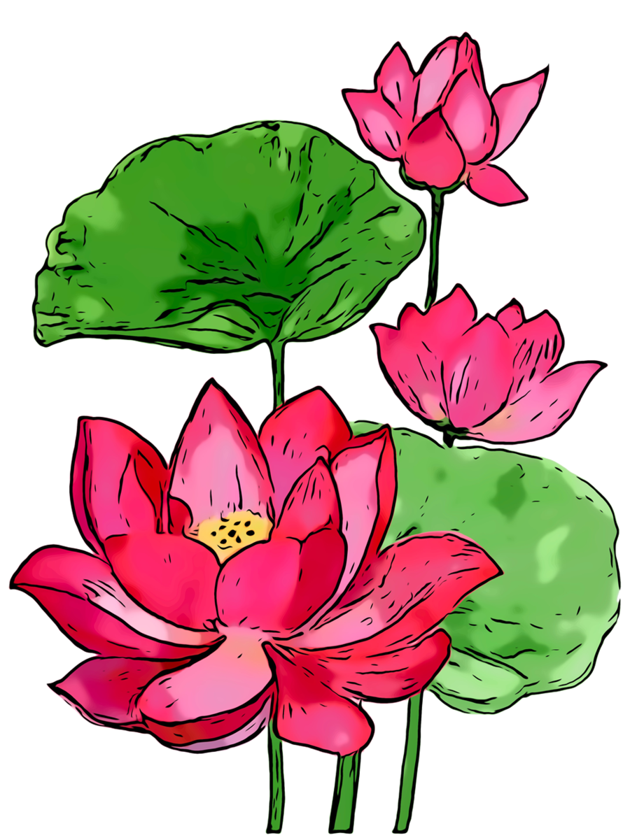 Summer Background Flowers clipart.