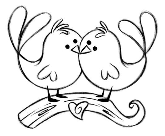 love birds flying clipart outline 20 free Cliparts ...