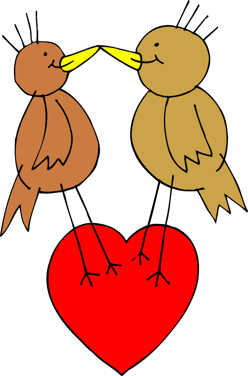 Love Birds Art Coloring Book Colouring Sheet Page intelligentsia.