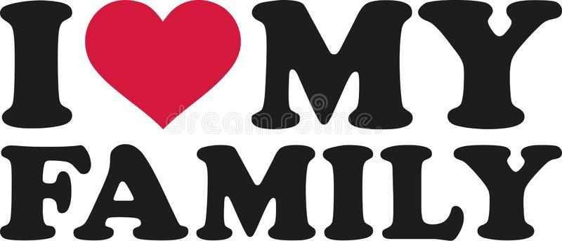 Love Family Stock Illustrations.