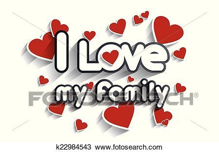 I Love My Family Clipart.