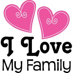 I Love Family Clipart.